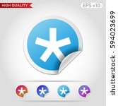 colored icon or button of... | Shutterstock .eps vector #594023699