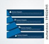 modern infographic options... | Shutterstock .eps vector #594026945