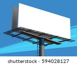Closeup Illustration Of A Blank Unipole Banner For Outdoor Advertising