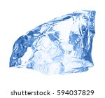 ice cube isolated on white. | Shutterstock . vector #594037829