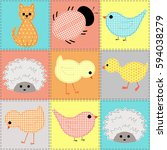 Kids Seamless Pattern With...