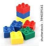 plastic building blocks... | Shutterstock . vector #594039161