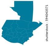 guatemala blue map vector | Shutterstock .eps vector #594043571