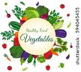 healthy vegetables and... | Shutterstock . vector #594045455