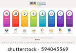 timeline infographics design... | Shutterstock .eps vector #594045569
