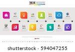 timeline infographics design... | Shutterstock .eps vector #594047255