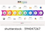 timeline infographics design... | Shutterstock .eps vector #594047267