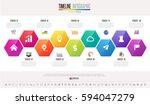 timeline infographics design... | Shutterstock .eps vector #594047279