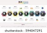 timeline infographics design... | Shutterstock .eps vector #594047291