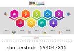 timeline infographics design... | Shutterstock .eps vector #594047315