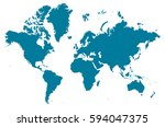 continents blue map vector | Shutterstock .eps vector #594047375