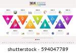 timeline infographics design... | Shutterstock .eps vector #594047789