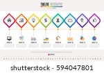 timeline infographics design... | Shutterstock .eps vector #594047801