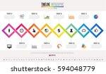 timeline infographics design... | Shutterstock .eps vector #594048779
