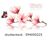 nature background with blossom... | Shutterstock .eps vector #594050225
