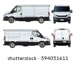 vector van template isolated on ... | Shutterstock .eps vector #594051611