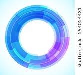geometric frame  vector... | Shutterstock .eps vector #594054431