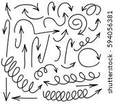 hand written marker pen vector... | Shutterstock .eps vector #594056381