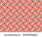 a hand drawing pattern made of... | Shutterstock . vector #594056861