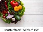 heap of fresh organic... | Shutterstock . vector #594074159