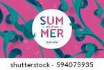 summer fashion market offer.... | Shutterstock .eps vector #594075935