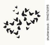 heart of butterflies valentine... | Shutterstock .eps vector #594076595
