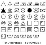 a laundry symbol  also called a ... | Shutterstock .eps vector #594095387