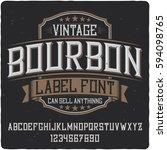 vintage label typeface named ... | Shutterstock .eps vector #594098765
