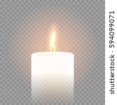 candle flame burning on vector... | Shutterstock .eps vector #594099071