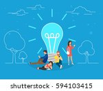 idea concept vector... | Shutterstock .eps vector #594103415