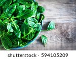 Fresh Green Baby Spinach Leave...