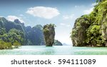 khao phing kan known as james... | Shutterstock . vector #594111089