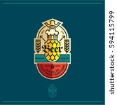beer label  beer logo  pub and... | Shutterstock .eps vector #594115799