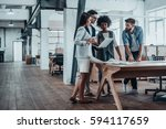 working through some concepts.... | Shutterstock . vector #594117659
