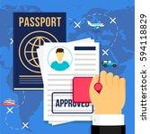 vector illustration. travel... | Shutterstock .eps vector #594118829