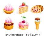 set of sweets. vector eps10 | Shutterstock .eps vector #59411944