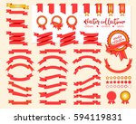 collection of decorative design ... | Shutterstock .eps vector #594119831