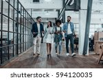 catching up before meeting.... | Shutterstock . vector #594120035