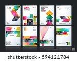 business vector set. brochure... | Shutterstock .eps vector #594121784