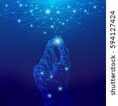 concept of global network... | Shutterstock .eps vector #594127424