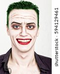 Guy With Crazy Joker Face ...