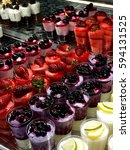Small photo of Italian gelato mix with fresh fruits topping