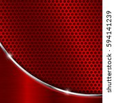 red metal perforated background.... | Shutterstock .eps vector #594141239