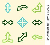 arrows mobile icon  next step... | Shutterstock .eps vector #594146471