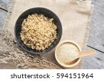 Stock photo cooked quinoa in a bowl 594151964