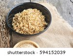 cooked quinoa in a bowl. | Shutterstock . vector #594152039