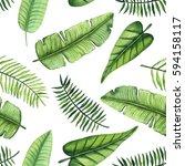 seamless pattern of watercolor...   Shutterstock . vector #594158117