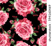 seamless pattern with bouquets. ... | Shutterstock . vector #594160469