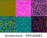 Set Of Six Backgrounds With...
