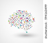 vector technology data brain. | Shutterstock .eps vector #594163499
